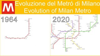 Evolution of Milan Metro (1964→2020)