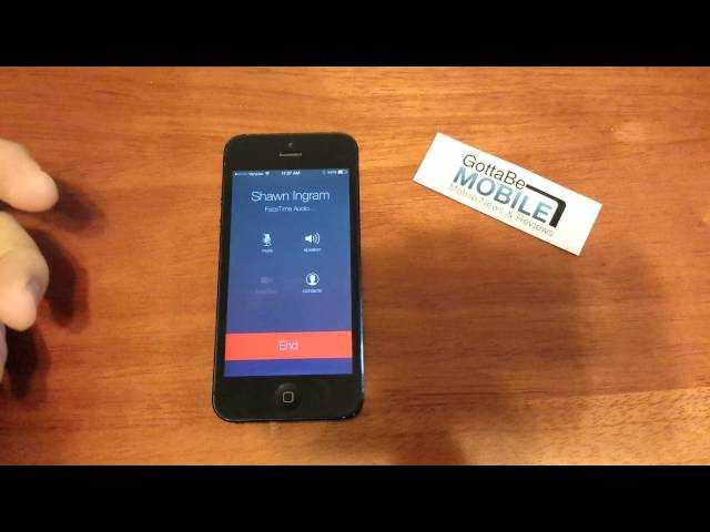 iOS 7 FaceTime Audio Sample Call (Video)