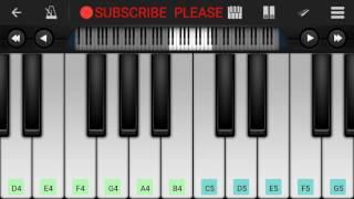 Samjhawan Piano || Arijit Singh || - Mobile Perfect piano tutorial