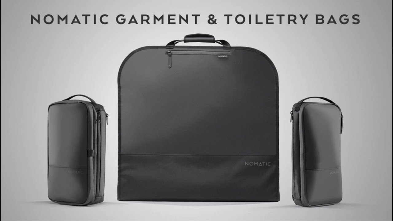 22d7bc3623 The NOMATIC Garment Bag and 2 New Toiletry Bags! - YouTube