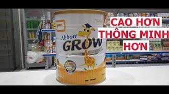 VLog 23 Sữa Abbott Grow 4 hưu cao cổ Cao Hơn,Thông Minh Hơn