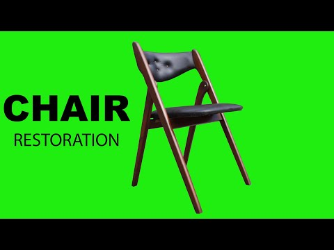 Refinishing And Repairing A Mid Century Folding Chair | Furniture Restoration