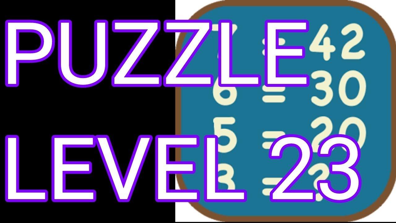 Math Puzzles Level 23 Walkthrough - YouTube
