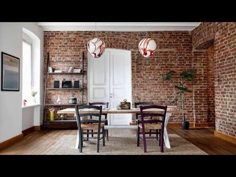 Bold Dining Room Designs With Exposed Brick Walls