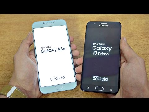 Samsung Galaxy A8 (2016) vs J7 Prime - Speed Test! (4K)
