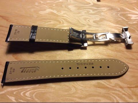 Band Tissot Visodate T019430 Leather watchband strap Black 20mm