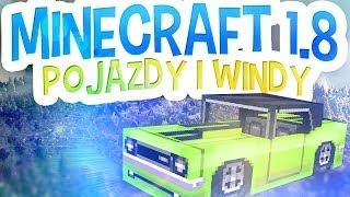 MineCraft 1.8 - POJAZDY, WINDY i TRAMPOLINY BEZ MODÓW! Snapshot 14w18a