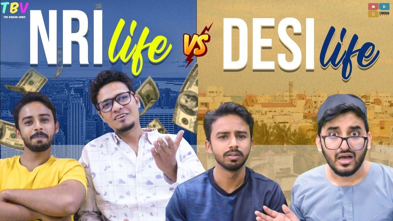 NRI LIFE V/S DESI LIFE   Hyderabadi Comedy   The Baigan Vines