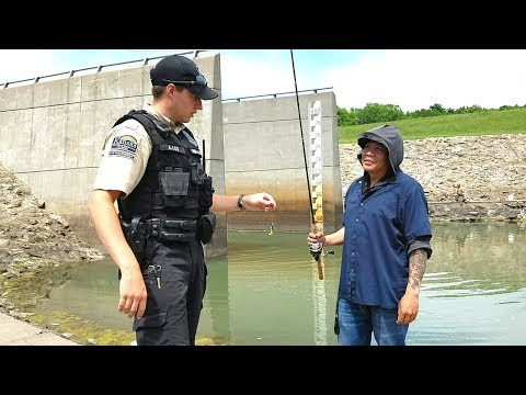 GAME WARDEN Came While Spillway Fishing. EP 57