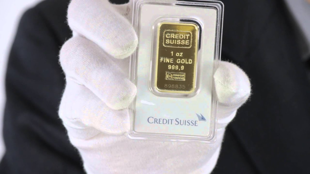 1 Oz Credit Suisse Gold Bar 9999 Fine Goldmart Youtube
