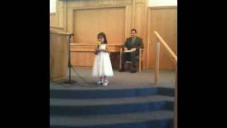 Victoria Jade Frias sings The Lord's Prayer