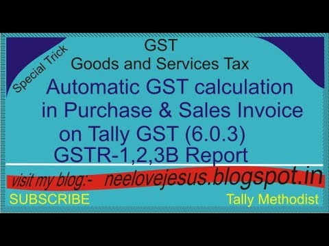 how to automatic gst calculation in purchase and sales invoice on