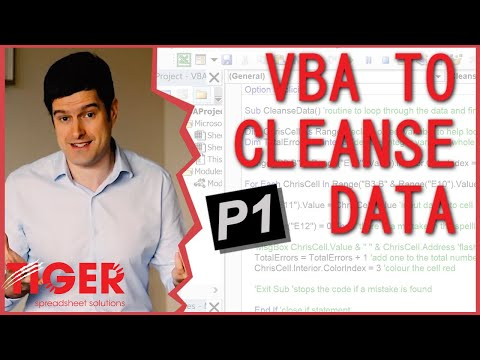 Excel VBA to Cleanse Data 1/5 - Excel Visual Basic (VBA) for Beginners