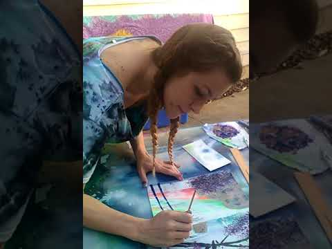 Rainbow Chinese Landscape with Panda ~ Spray Paint Art Video ~ Part 3 ~