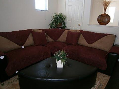 Burgundy Sectional Sofa