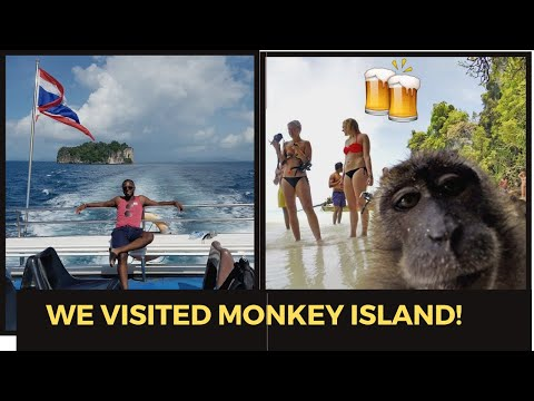 Thailand Travel Vlog Part 4: Koh Phi Phi- Monkey's WILL STEAL YOUR BEER! - Booze Cruise