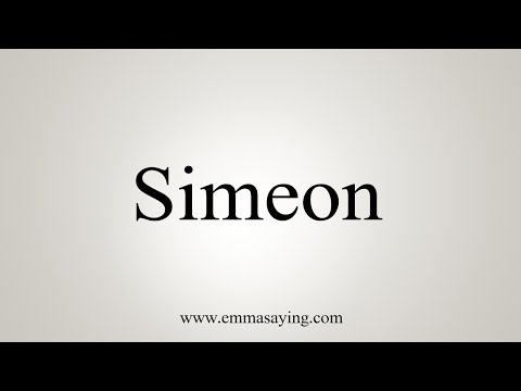 How To Say Simeon