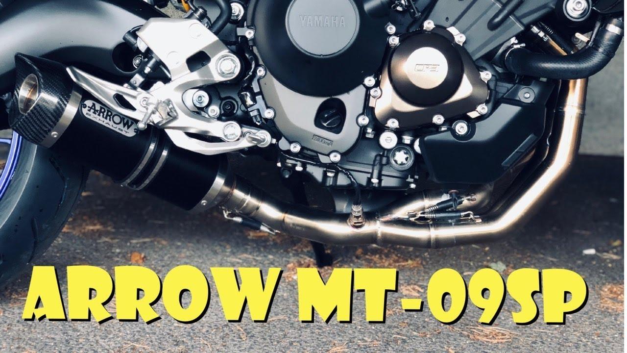 Yamaha MT-09SP Arrow thunder exhaust sound!