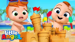 *NEW* Sandcastle Competition | Little Angel Kid Songs And Nursery Rhymes