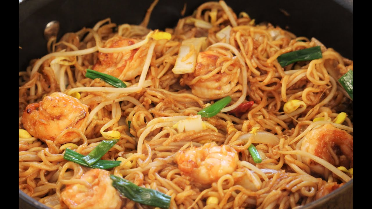 Value Asian noodles with shrimp