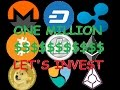 1 Million Dollars to Invest in Your Top 3 Cryptocurrencies Game, What Do You Do?