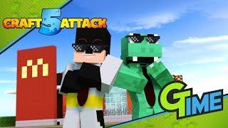 Zander und Ich bauen einen MCDONALDS! - Minecraft Craft Attack 5 #31   Gamerstime