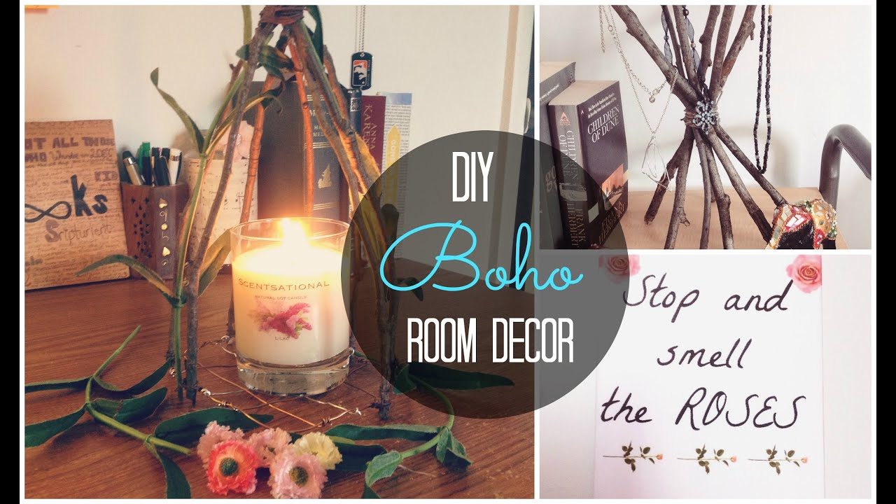 DIY Spring Boho Room Decor   Cheap and Unique   Spirited Gal   YouTube. Diy Boho Chic Home Decor. Home Design Ideas