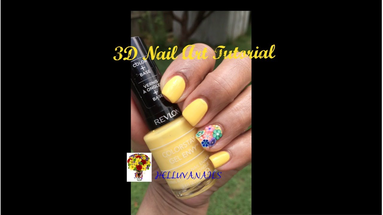 3d Flowers Nail Art Tutorial Youtube