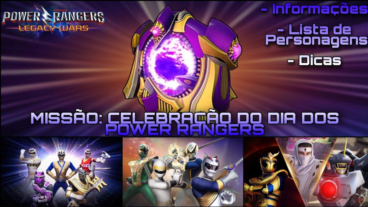 Como cumprir a Missão do Dia dos Rangers: Lista de Personagens Completa [Power Rangers Legacy Wars]