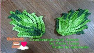 Folha de Crochê para aplicação