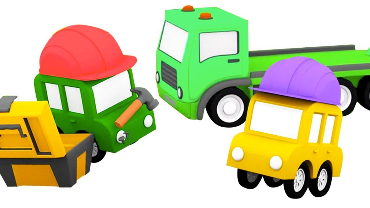 4 машинки и грузовичок   Мультфильм 4 машинки   Мультики про машинки для малышей