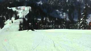 Carving down Aquarius Ridge Thumbnail