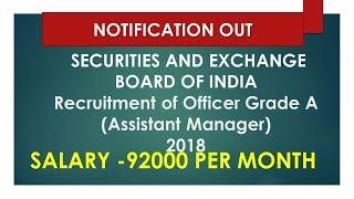 SEBI - Recruitment of Officer Grade A (Assistant Manager)