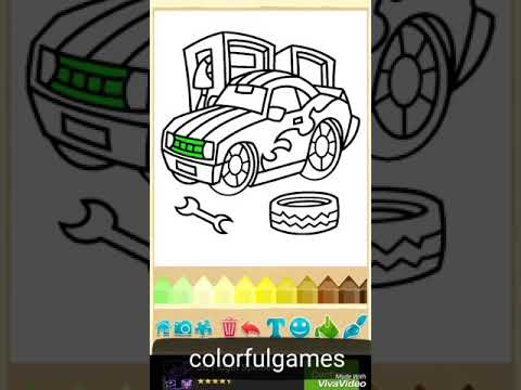 New Video Kids Cars Colors Araba Boyama Oyunu Rengli Masinlar