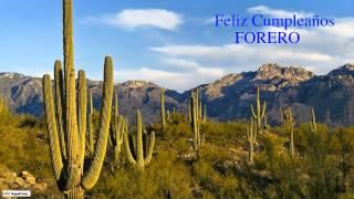 Forero   Nature & Naturaleza - Happy Birthday