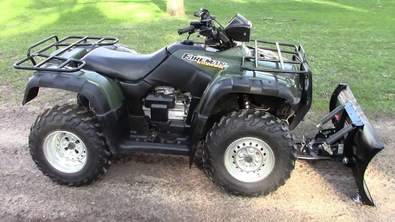 2003 Honda Foreman Rubicon TRX500FA with WARN plow  YouTube