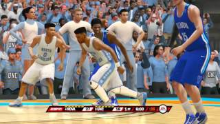 NCAA Basketball 10 USER LAST BIG DANCE GAME 2016 Villanova Wildcats vs North Carolina Tar Heels