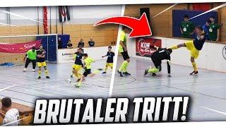 HALLENFUSSBALL! Brutaler TRITT + KAMPF um das Viertelfinale! PMTV