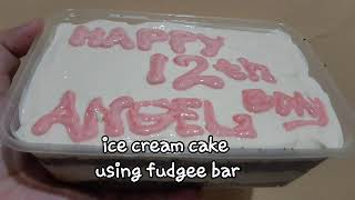 Ice cream cake using fudgee bar/yummy idea