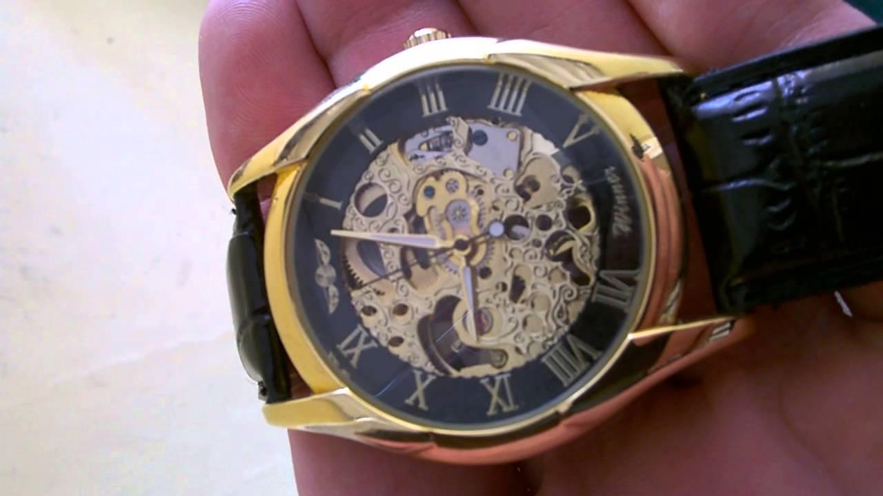 5e0c730c5b8 Relógio Pulso Winner Esqueleto Movimento Mecânico   venda   - YouTube