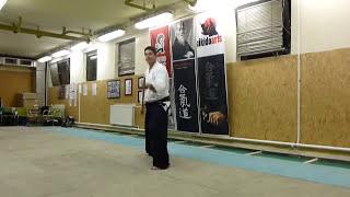 tsuki gedan gaeshi -jo [TUTORIAL] Aikido basic weapon technique/tsuki no bu