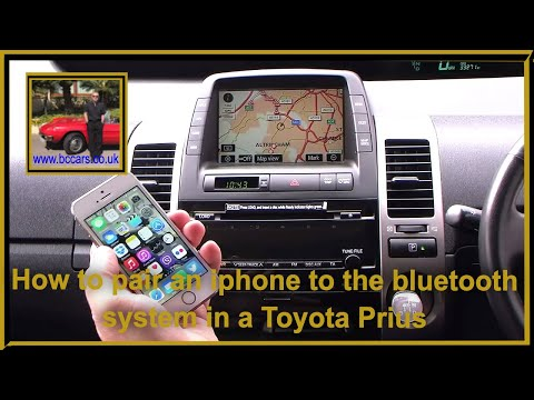 How to pair an iphone to the bluetooth system in a Toyota Prius 1.5 T Spirit 5dr