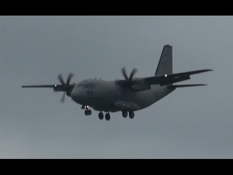 ILA 2014 | Romanian Air Force C 27 Spartan Landing for ILA Berlin Air Show 2014
