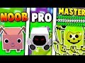 NOOB VS PRO VS MASTER - ROBLOX PET SIMULATOR VERSION! *EPIC!*