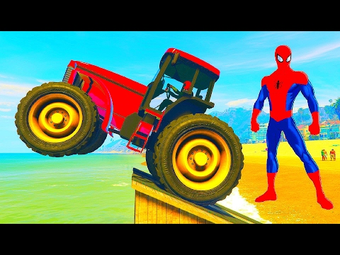 Tractor Bajka dla dzieci i Wesołe Kolorowe Samochody z piosenkami
