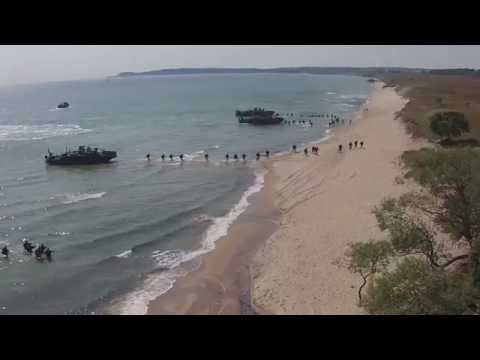 700 Swedish, Finnish, UK, and US Marines Conduct an Amphibious Landing