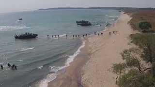 Video 700 Swedish, Finnish, UK, and US Marines Conduct an Amphibious Landing download MP3, 3GP, MP4, WEBM, AVI, FLV November 2017