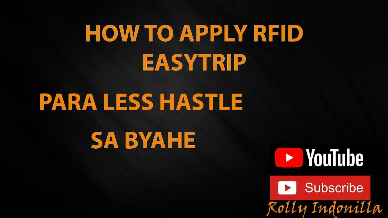 Pano Mag Apply Ng RFID Step By Step