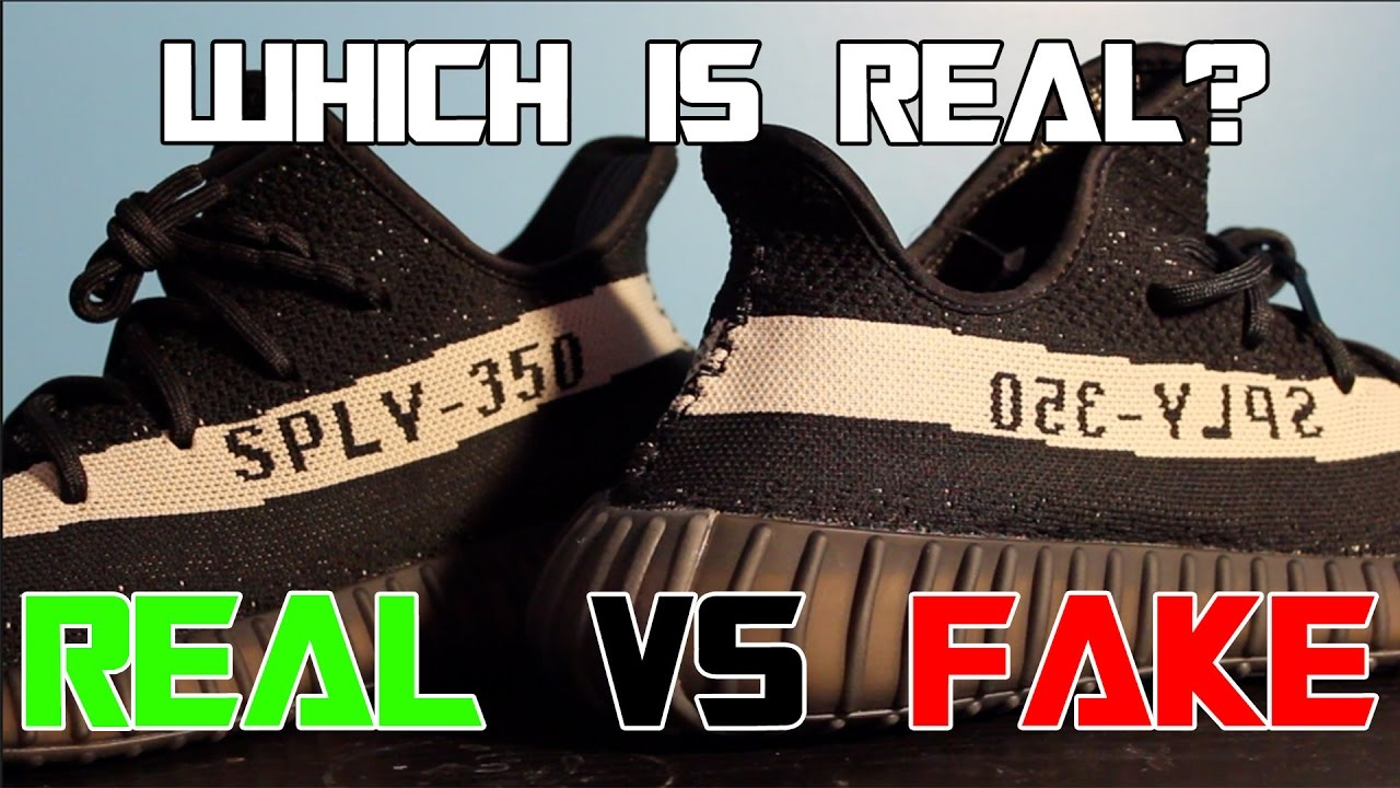 e65c5160c6a Real vs Fake Yeezy 350 V2 Black White