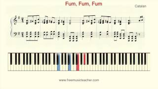 "How To Play Piano: ""Fum, Fum, Fum"" Catalan"